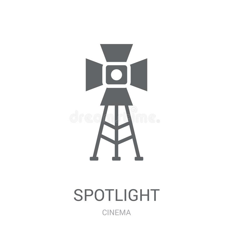Spotlight icon. Trendy Spotlight logo concept on white background from Cinema collection. Suitable for use on web apps, mobile apps and print media stock illustration