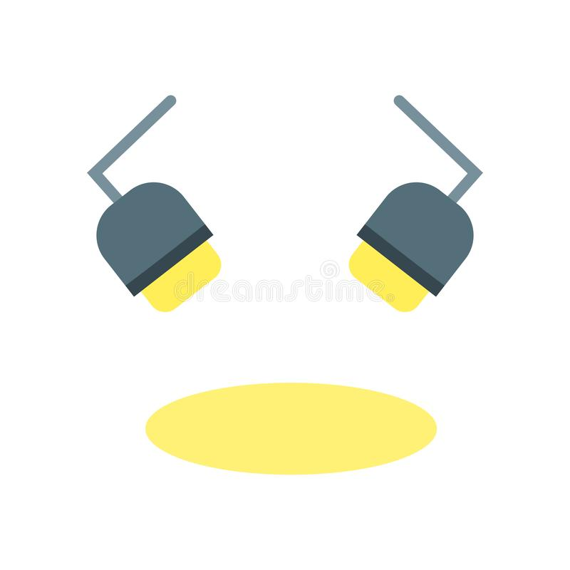 Spotlight icon vector sign and symbol isolated on white background, Spotlight logo concept. Spotlight icon vector isolated on white background for your web and vector illustration