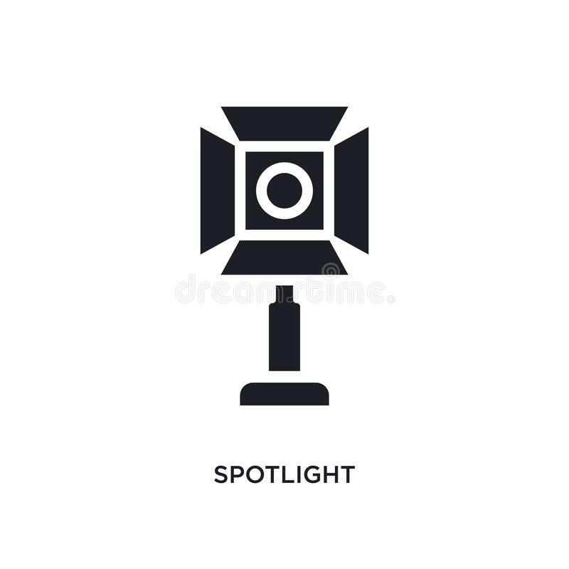 spotlight isolated icon. simple element illustration from photography concept icons. spotlight editable logo sign symbol design on vector illustration