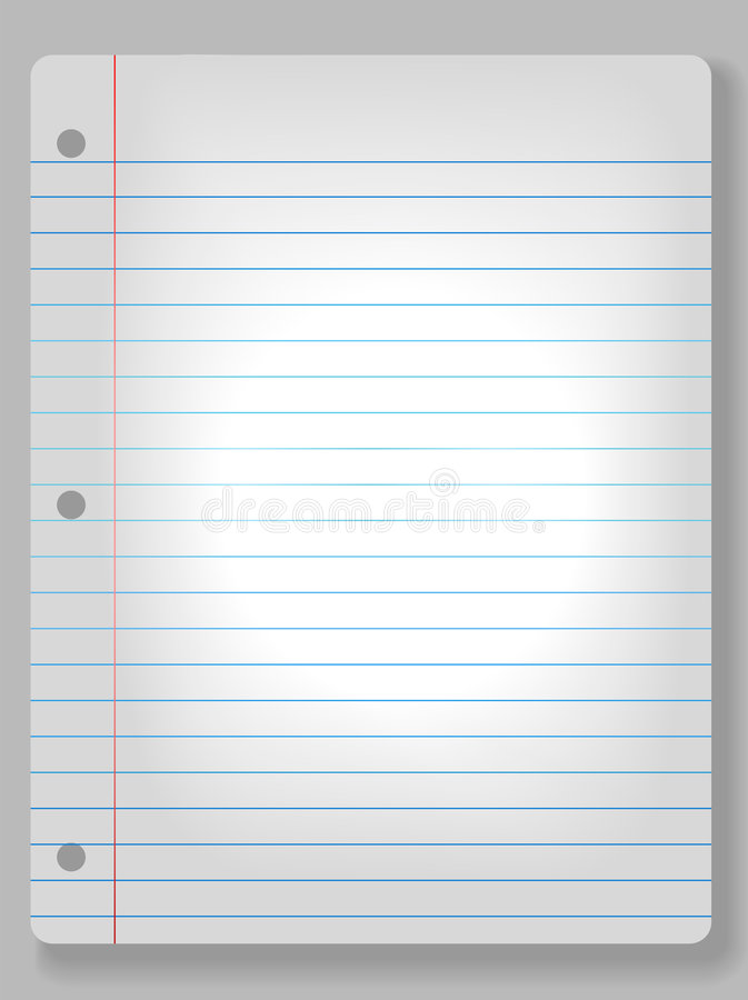 Download Spotlight Notebook Paper Background Stock Vector - Image: 3968497