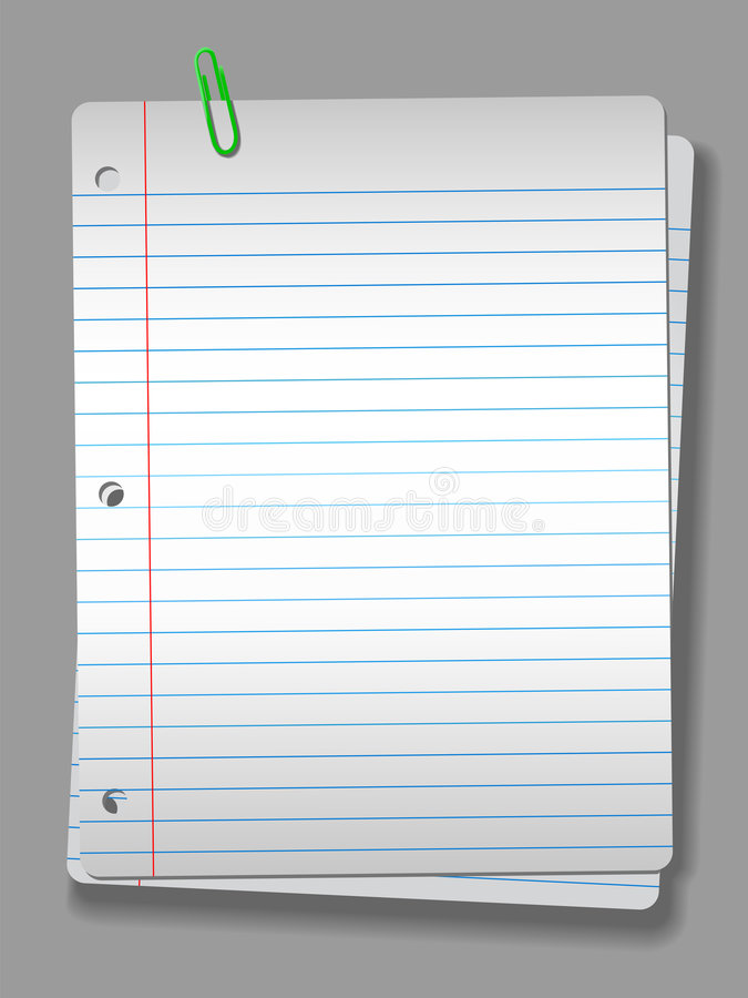 Spotlight Notebook Paper Clip 2 Pages Background Royalty Free Stock Image
