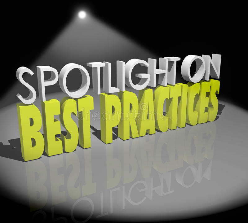 Free Spotlight On Best Practices Words Great Concepts Successful Idea Royalty Free Stock Images - 40819559