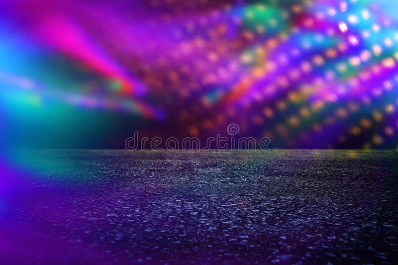 Spotlight over concrete floor. dark black background. Spotlight over concrete floor. dark black background royalty free stock photography