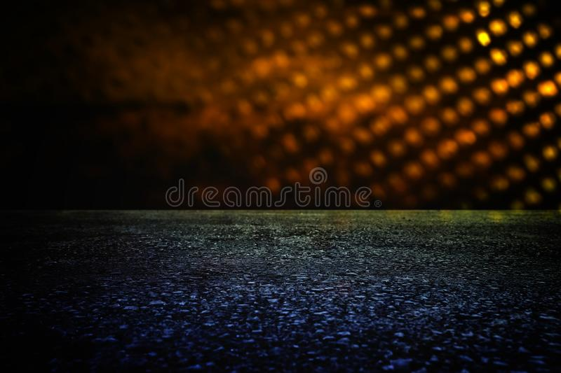 Spotlight over concrete floor. dark black background. Spotlight over concrete floor. dark black background royalty free stock image