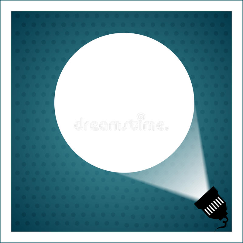 Spotlight projecting to blank wall royalty free illustration