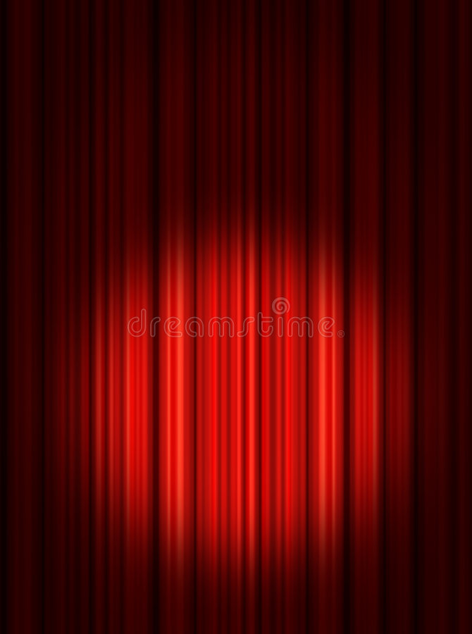 Download Spotlight On Red Stage Curtains Stock Illustration - Image: 6902318