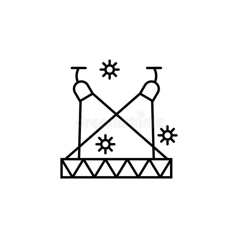 Spotlight, show, magic, circus icon. Element of magic for mobile concept and web apps icon. Thin line icon for website design and. Development on white vector illustration