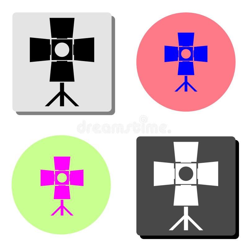 Spotlight. flat vector icon vector illustration