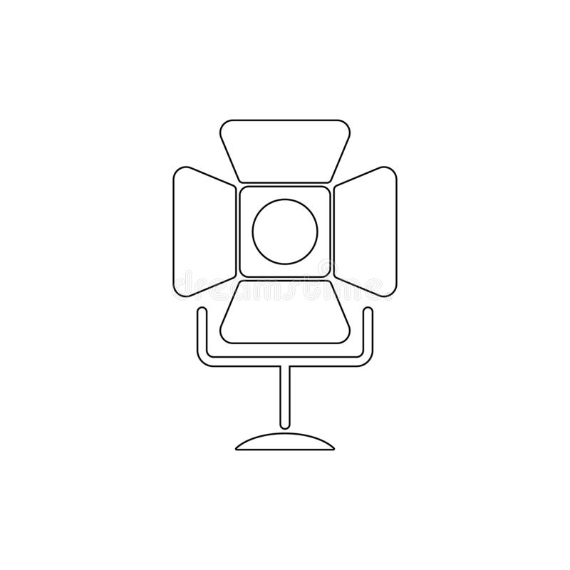 Spotlight simple icon. Element of media for mobile concept and web apps illustration. Thin line icon for website design and develo royalty free illustration