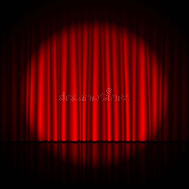 Spotlight on stage stock illustration