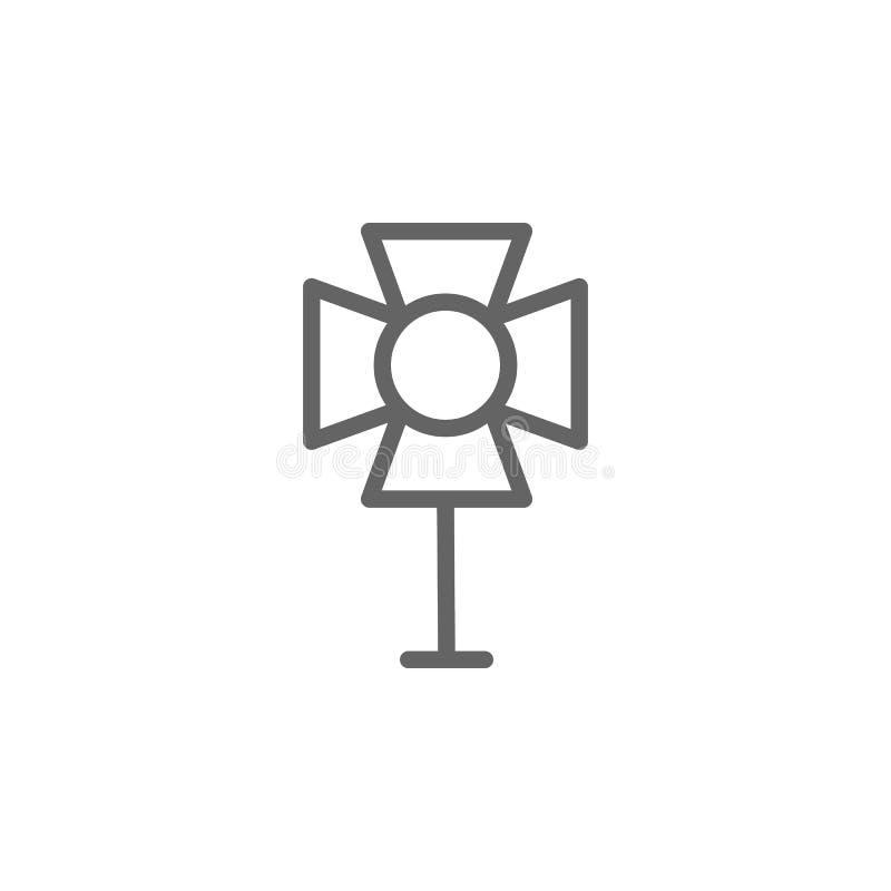 Spotlight, theater icon. Element of theater icon. Thin line icon. On white background stock illustration