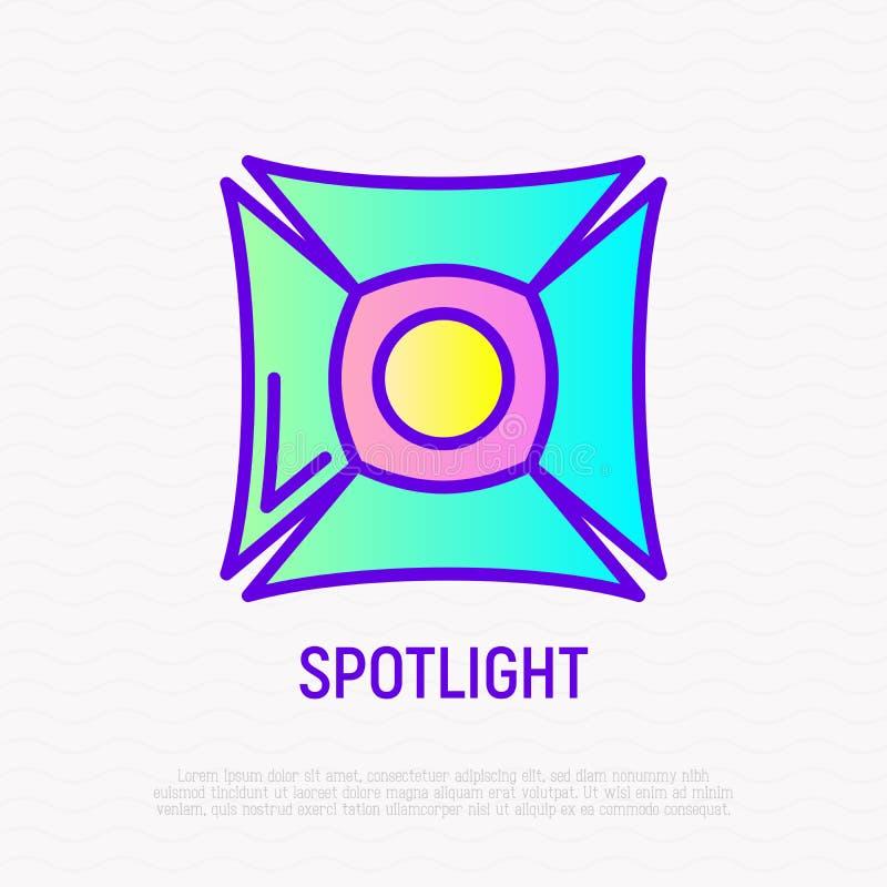 Spotlight thin line icon. Vector illustration royalty free illustration