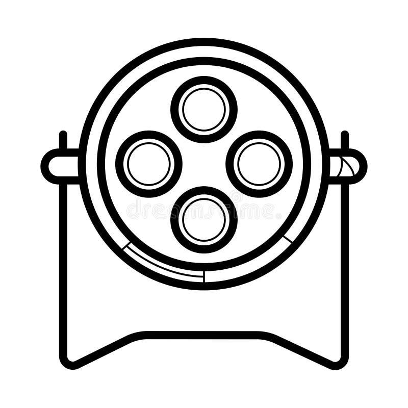 Spotlight vector icon vector illustration