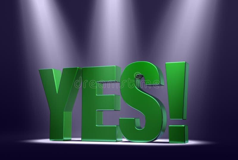 Download Spotlight On Yes stock illustration. Illustration of bold - 28769239