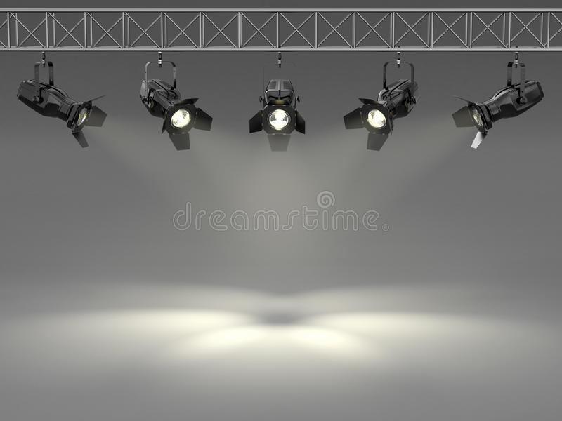 Download Spotlights Illuminated Wall. Space For Text Royalty Free Stock Image - Image: 25814556
