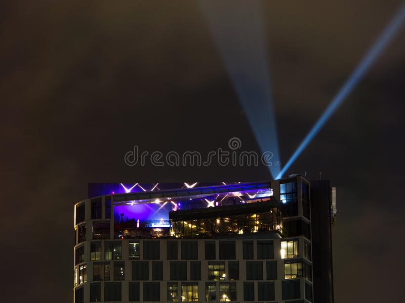 Spotlights And Modern Building royalty free stock photos