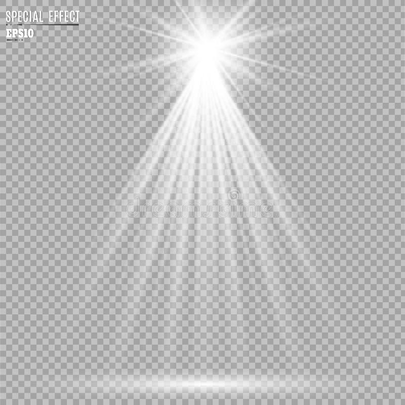 Spotlights scene light effects. Vector illustration royalty free illustration