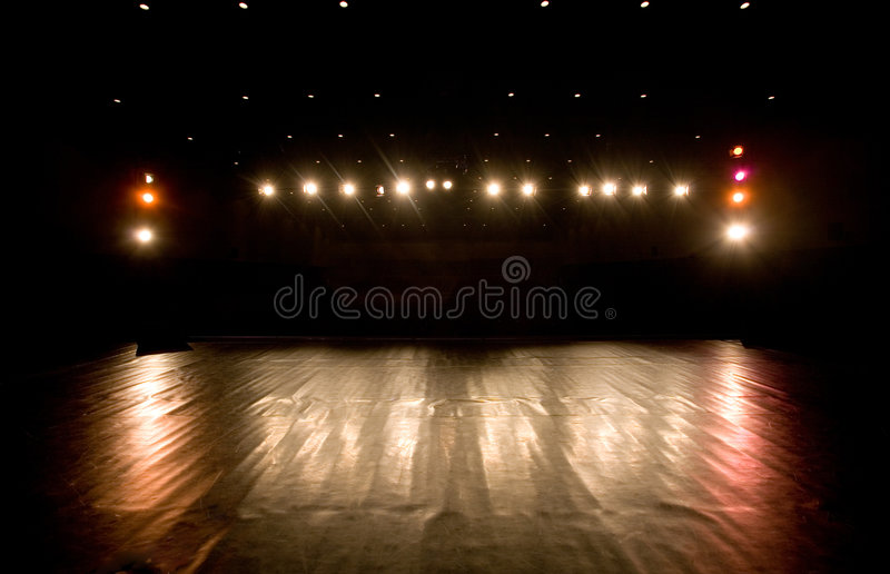 Download Spotlights On A Stage Royalty Free Stock Photography - Image: 5462667