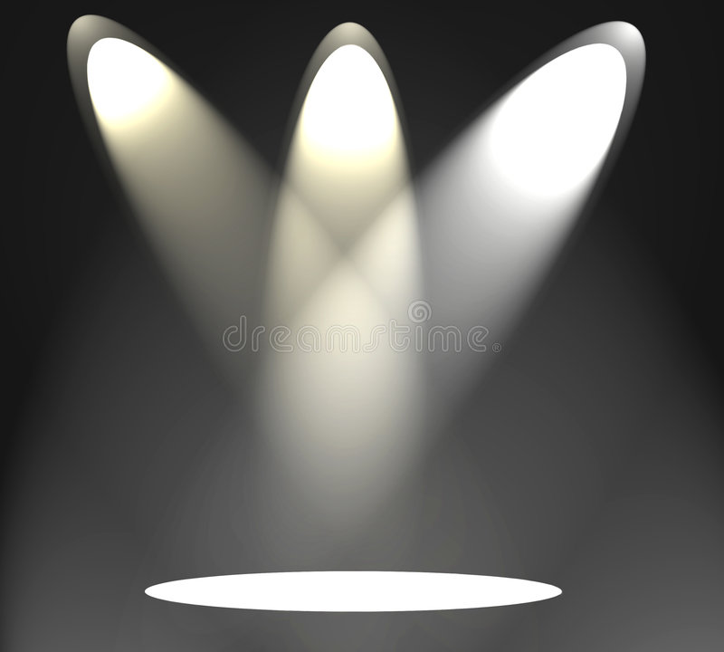 Spotlights On Stage Stock Images