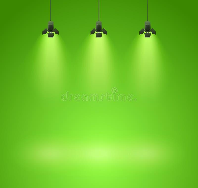 Spotlights stock illustration
