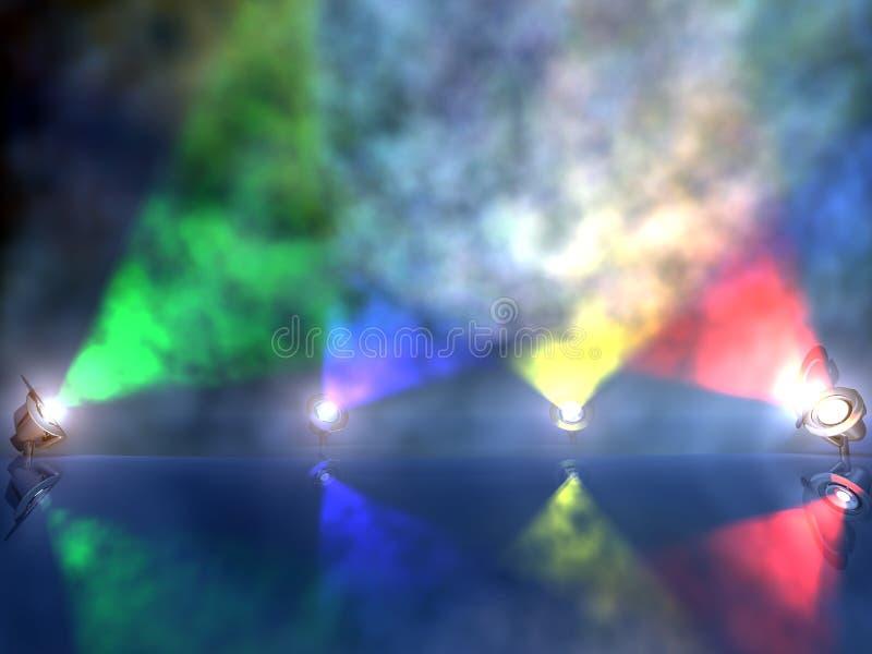 spotlights varicolored working στοκ φωτογραφίες