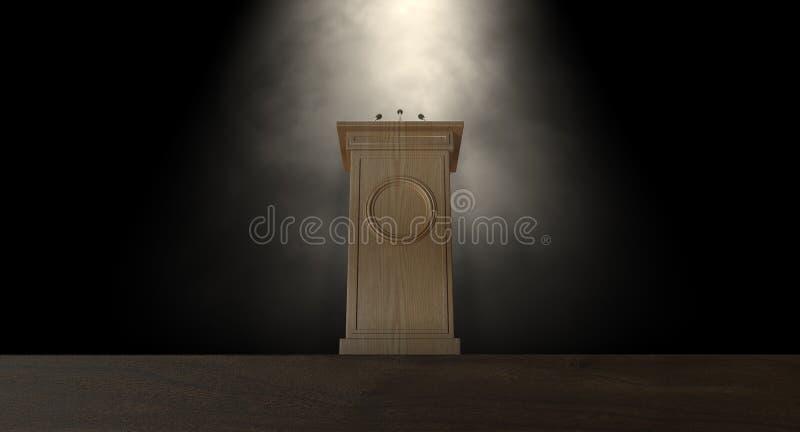 Spotlit prasy podium zdjęcie royalty free