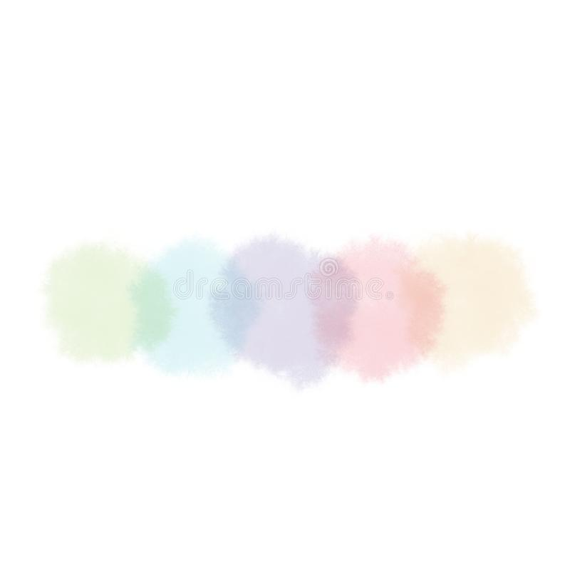 Spots of light colors in watercolor white background royalty free stock image