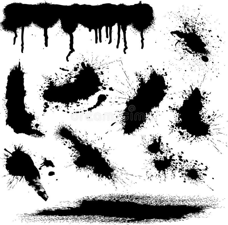 spots vektorn royaltyfri illustrationer