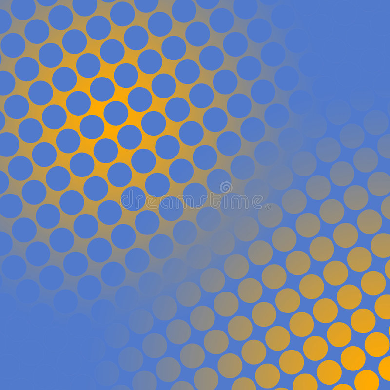 Download Spots on yellow and blue stock illustration. Illustration of circles - 110008