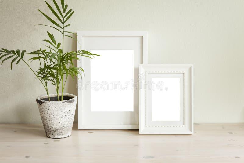 Spott herauf Szene mit zwei Rahmen lizenzfreies stockfoto