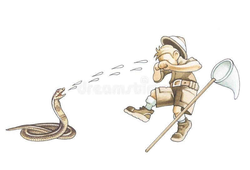 spotta för kobrajätte royaltyfri illustrationer