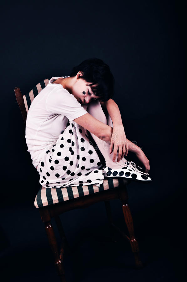 Download Spotted stock photo. Image of chair, skirt, tired, spotted - 11920542