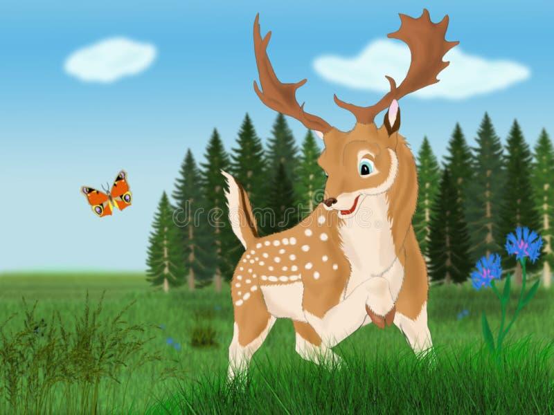 Download Spotted deer stock illustration. Image of photo, computer - 34832106