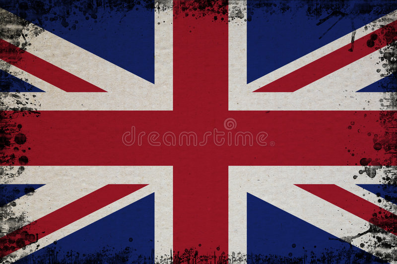 Spotted Flag Of UK vector illustration