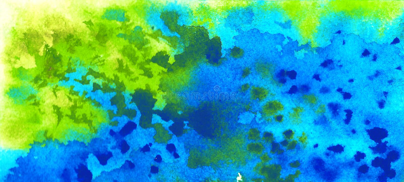 Spotted green blue background. Grassy, ​​marine. royalty free stock photo