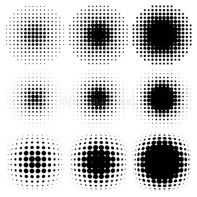 Spotted halftone. Design halftone elements, backgrounds vector illustration