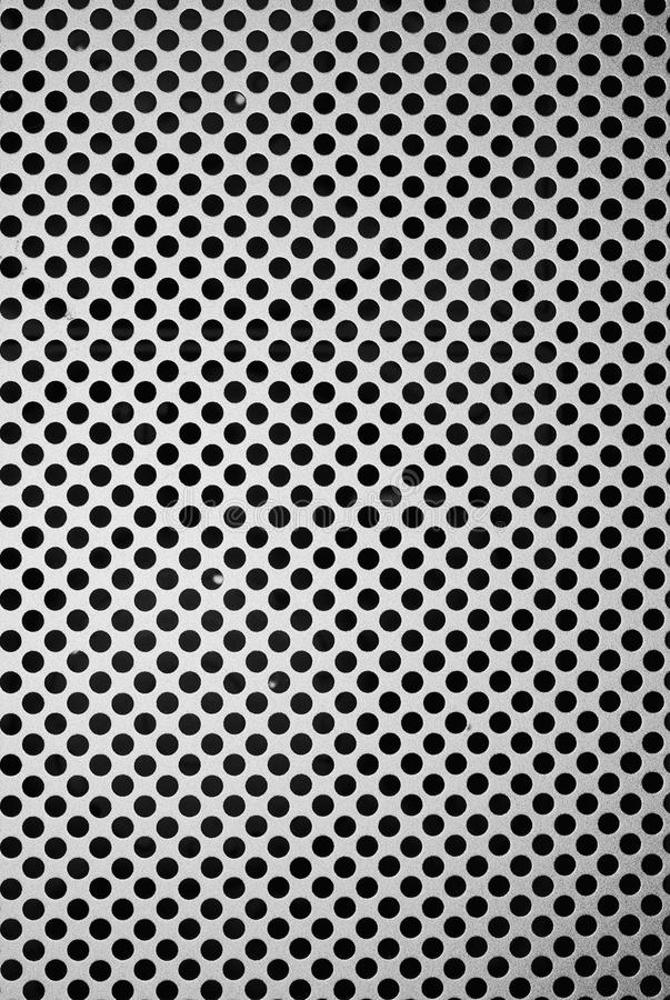 Spotted Pattern. As found on the front panel of the MacPro royalty free stock images
