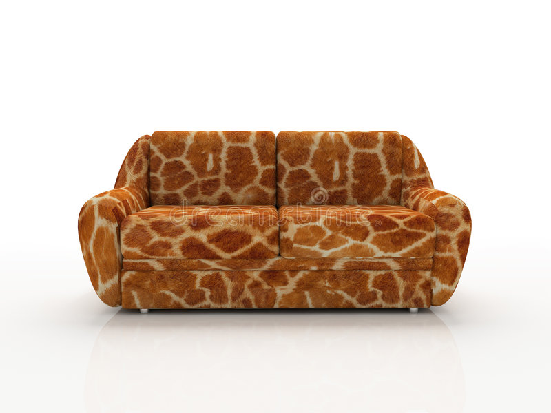 Download Spotted Sofa With Imitation Under Skin Of The Giraffe Stock Image - Image: 1586741