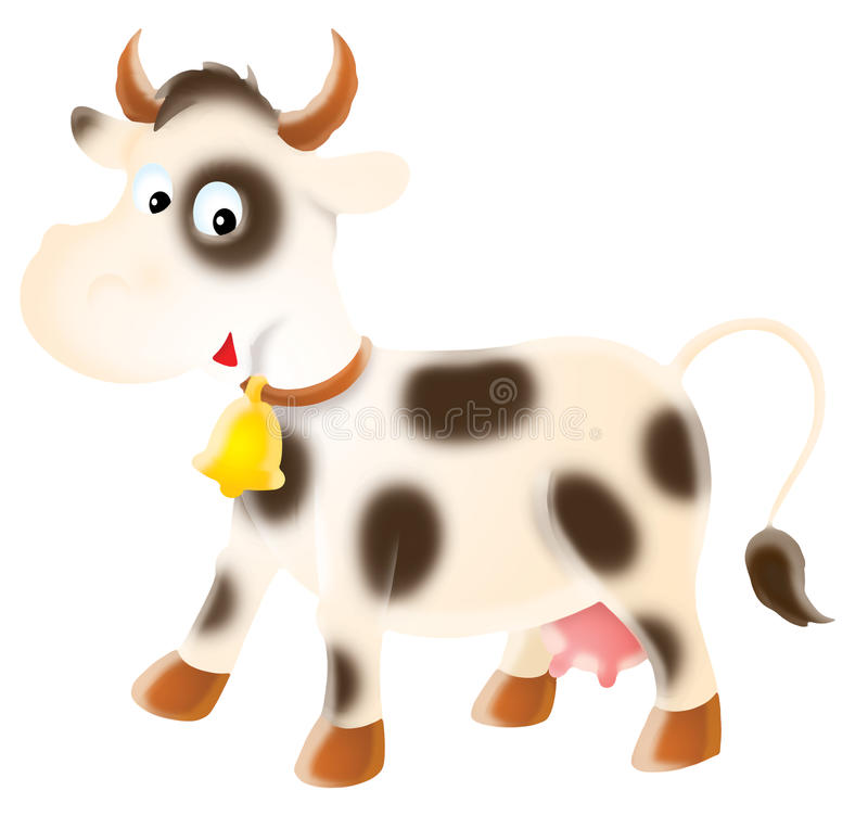 Download Spotty cow stock illustration. Illustration of isolated - 11905761