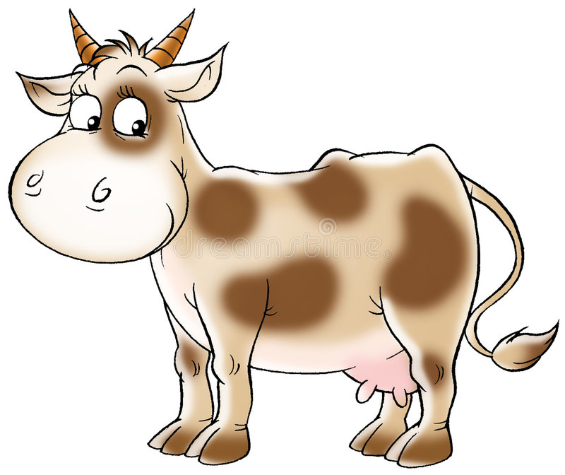 Spotty cow royalty free illustration