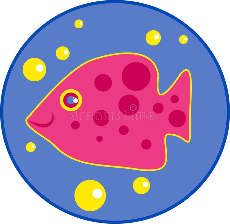 Spotty fish stock illustration