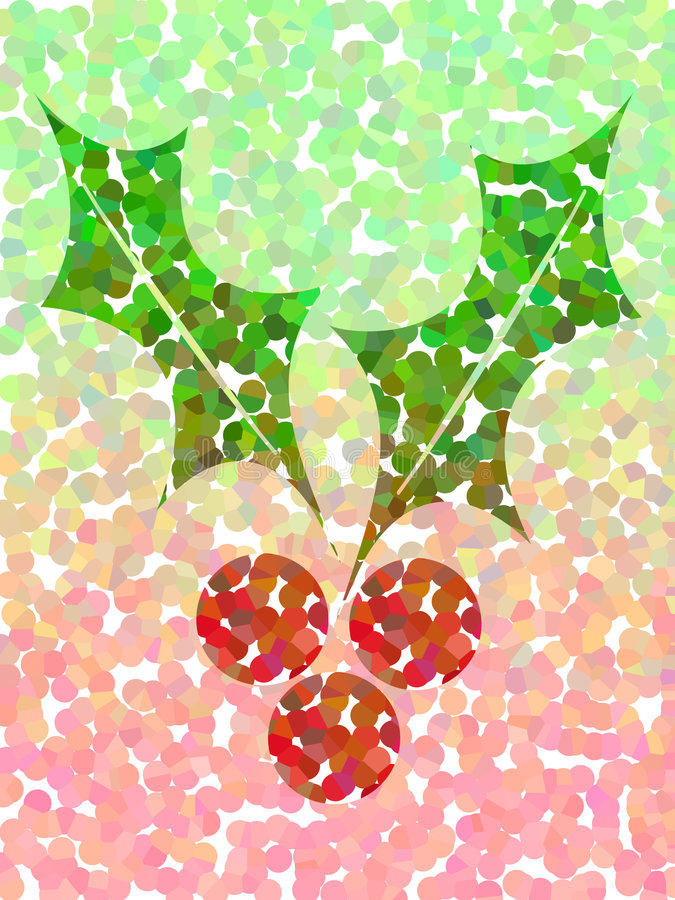 Download Spotty holly stock illustration. Illustration of greeting - 755954