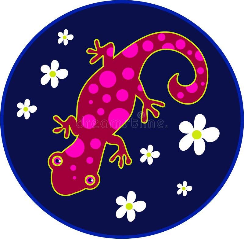 Spotty lizard vector illustration