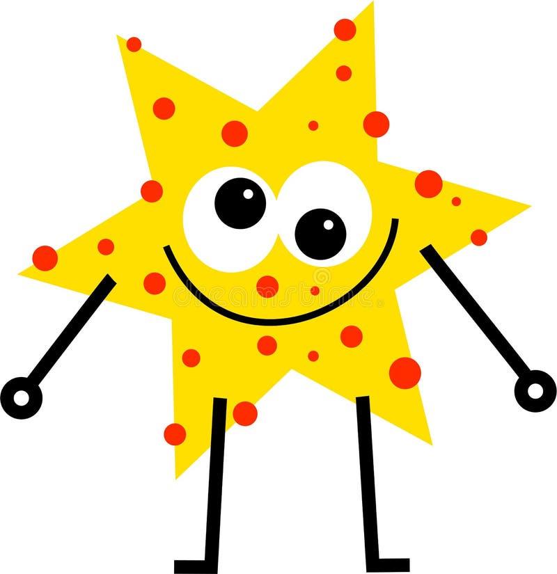 Spotty star royalty free illustration