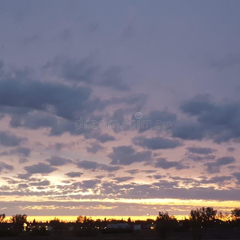 Spotty sunrise stock photography