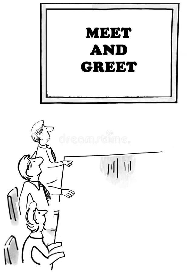 Spotyka i wita ilustracja wektor
