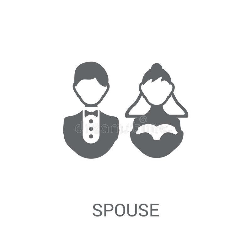 Spouse icon. Trendy spouse logo concept on white background from. Family Relations collection. Suitable for use on web apps, mobile apps and print media stock illustration