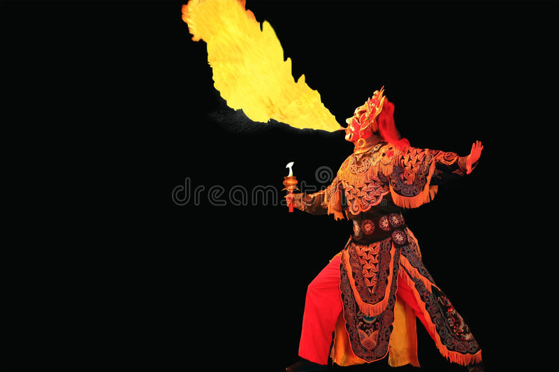 Spout fire royalty free stock images