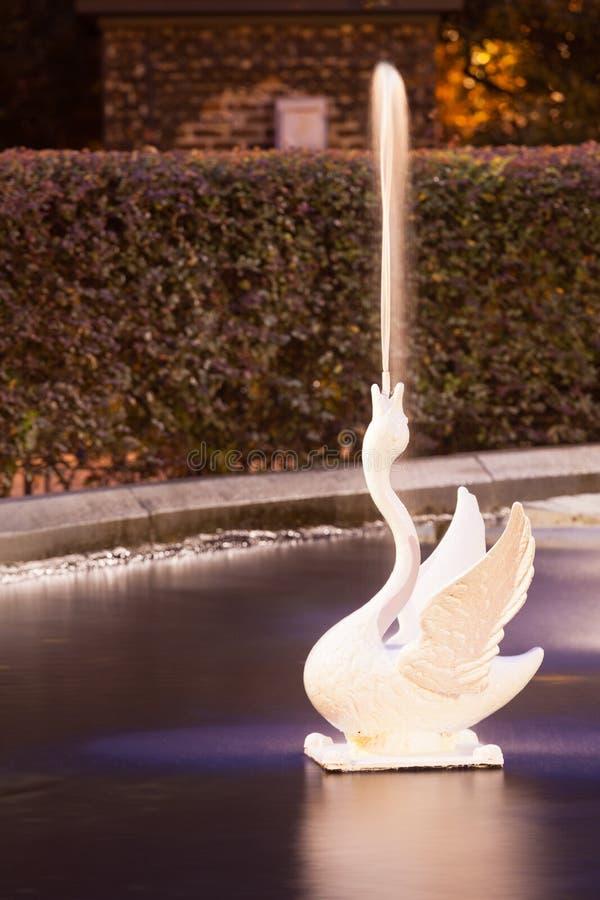 Spouting White Swan of Forsyth Park Fountain Savannah GA royalty free stock image