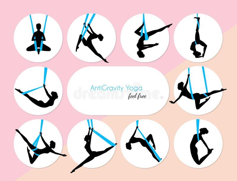 10 spoważnień joga ilustracji